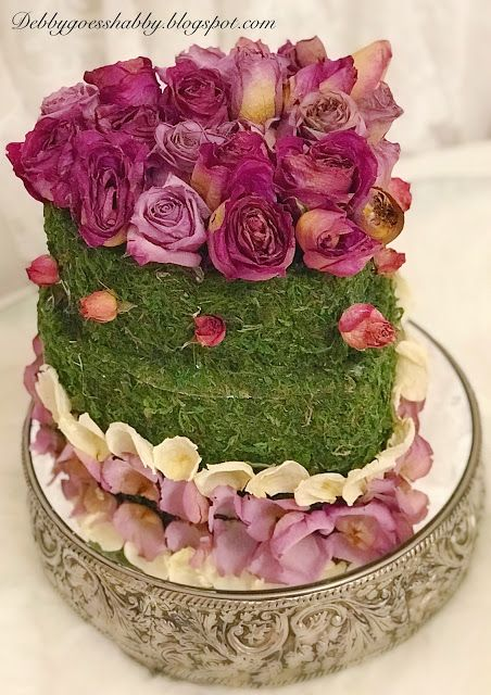 Dried Roses Faux Cake Great For Bridal Showers Tea Parties