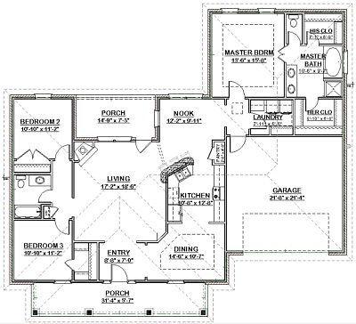 Custom House Home Building Plans Split Ranch 3 Bed 1890 Sf Pdf File Ebay House Blueprints Building Plans House Modular Home Plans