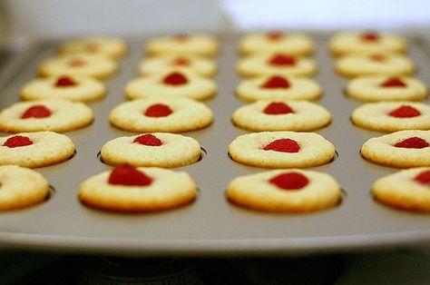 Raspberry-Topped Lemon Muffins | Brit + Co.