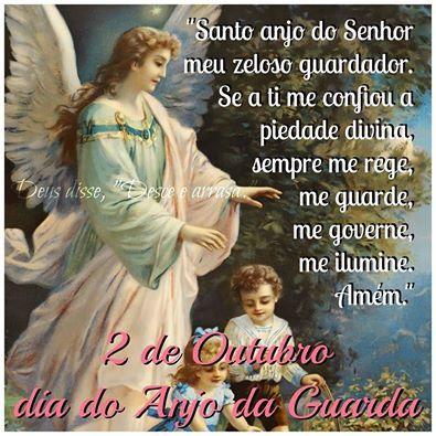 02 De Outubro Oracao Dia Do Anjo Da Guarda 2 Com Imagens
