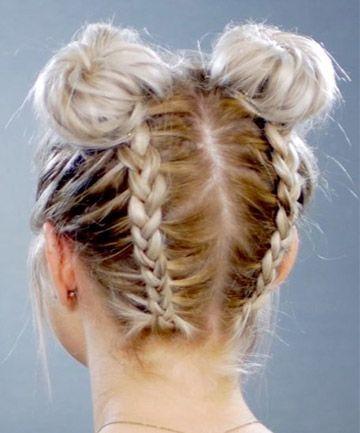 11 Surprisingly Easy Braids For Short Hair Braided Hairstyles Short Hair Bun Easy Braids
