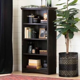 Black Bookcase Living Room Furniture
