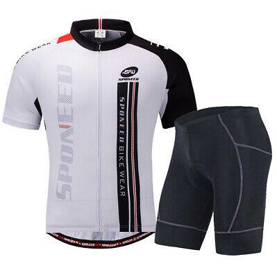 Sponsored Ebay Men Cycling Jersey Shorts Set Road Biker