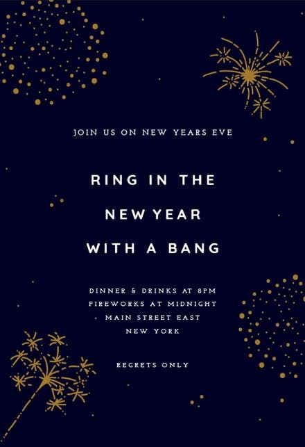 Pin By Katelynn Fahrer On New Years New Years Eve Invitations New Years Eve Newyear
