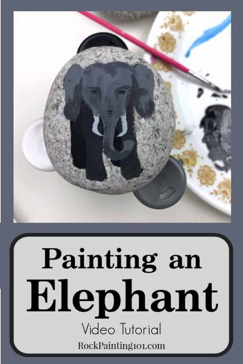 How to Paint an Elephant - Video Tutorial - Rock Painting 101