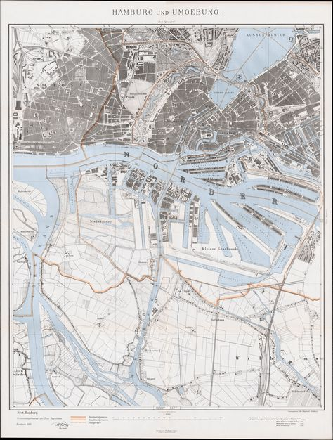 Karte Hamburg 1895 Hamburg Und Umgebung Sect Hamburg