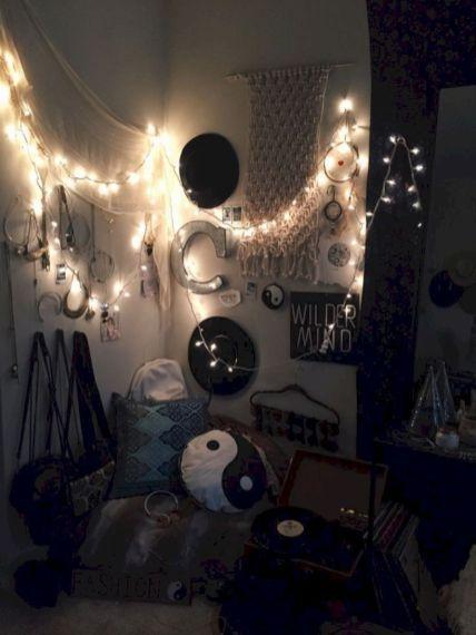 63 Cozy Bohemian Teenage Girls Bedroom Ideas Roundecor Grunge Bedroom Emo Room Goth Room Ideas Emo teenage bedroom ideas
