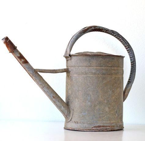 Zink Gießkanne rund 2 Liter