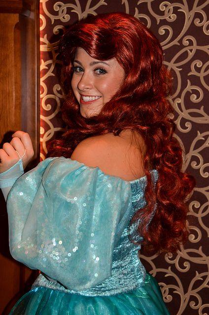 Princess Ariel from Disney's The Little Mermaid at the Royal Hall in Disneyland