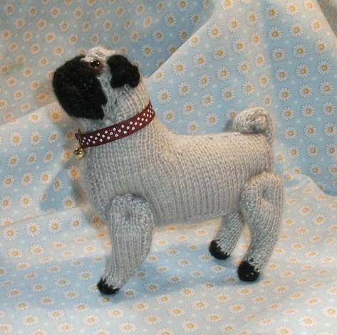 Free Pattern Knitted Pug Dog  aa5dafdc10