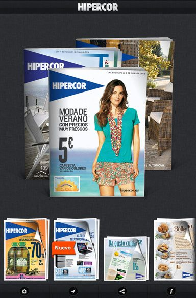 App Publicaciones Hipercor Camisetas