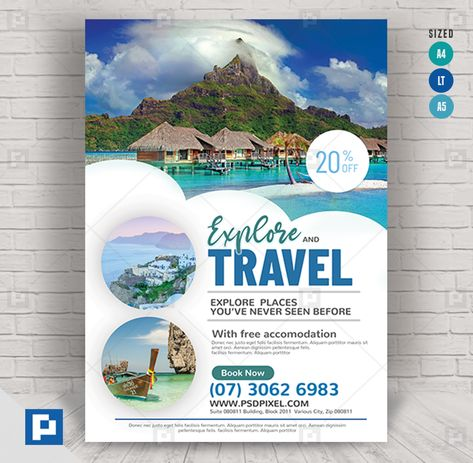 Travel and Booking Services Flyer - PSDPixel