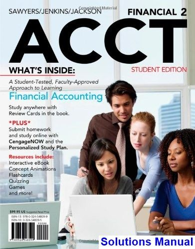 Financial ACCT2 2nd Edition Godwin Solutions Manual
