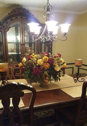 Table Fl Arrangements, Formal Dining Room Flower Arrangements