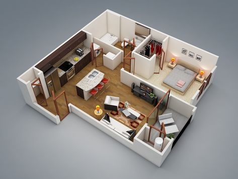 Pinterest Enchanting One Bedroom House Designs