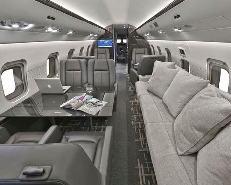 """Millions of dollars can go into designing the latest private jet interiors. Imagine silk handmade carpets, """"penthouse in the sky"""" designs"""