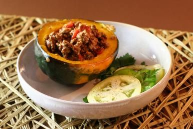 Baked Stuffed Acorn Squash With Beef And Tomatoes Recipe