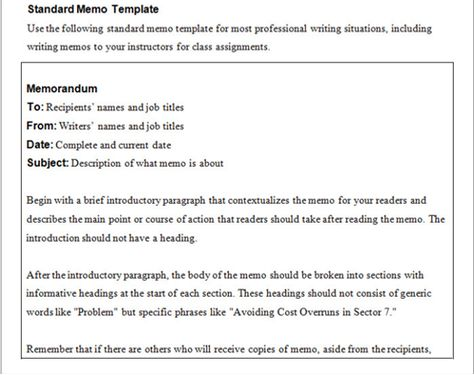 Business Memo Templates  Business Memo Template