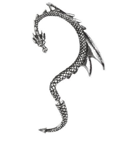 CRYSTAL DRAGON E330 by Alchemy  Gothic  Single Ear wrap for the RIGHT ear