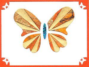 IRIS folding patterens   Iris Folding Butterfly