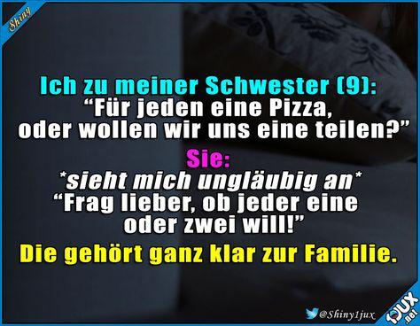 Die gleichen Gene :) #Familie #lustig #Pizzaliebe #Sprüche #Humor