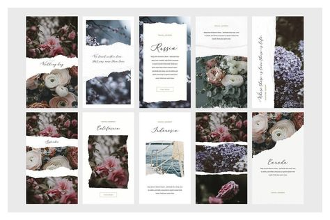 Ripped Papers — Instagram Story Templates, Instagram Story Background, Instagram Story Stickers, Canva Insta Story, Instagram Story Template