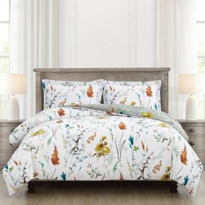 Product Image For Brigita Floral Reversible Comforter Set 2 Out Of Comforter Sets Comforters Bedroom Decor