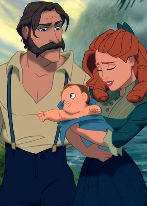 I DONT AGREE WITH TARZANS PARENTS BEING ANNAS PARENTS... BUT I do think TARZANS mom could be Anna's daughter. Look at her!!!