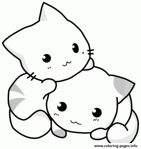 550 Cute Cat Coloring Book HD
