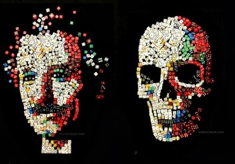 Portraits of Great Scientists Made From Everyday Materials