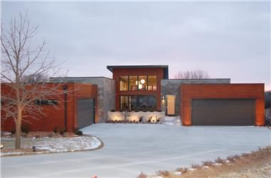 Icf And Concrete House Plans The Plan Collection Contemporary House Plans Modern Ranch Contemporary House