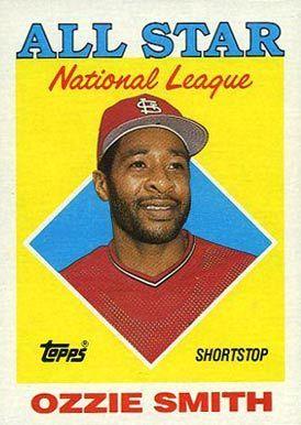 1988 Topps Ozzie Smith 400 Baseball Card Baseball Cards Baseball Card Values Baseball