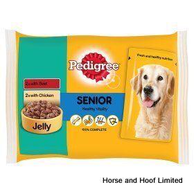Pedigree Pouch Senior Dog Food Chicken Beef 13 X 4 X 100g