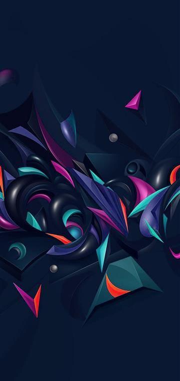 Huawei P30 P30 Pro Wallpaper Vq28 Abstract Art Hazy Design Rainbow