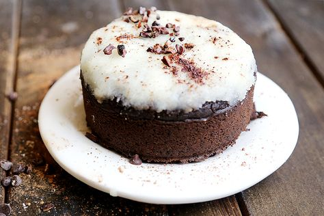 Dark Chocolate Cake with Coconut Cream Frosting - Desserts and Snacks, Recipes - Divine Healthy Food