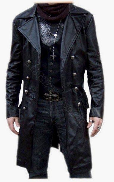 How to buy leather coats for yourself leather coats handmade men black biker leather coat, men leather coat, men long leather coat, JABBTOA