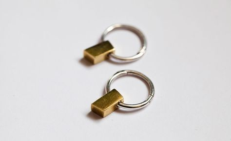 Whittle Angle Earrings from Of a Kind. Simple and stunning.