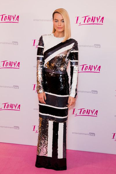 Margot Robbie attends the 'I, Tonya' UK premiere held at The Curzon Mayfair.
