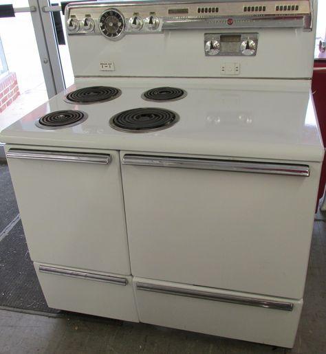 Unrestored Antique Stoves Retro Kitchen Appliances Vintage