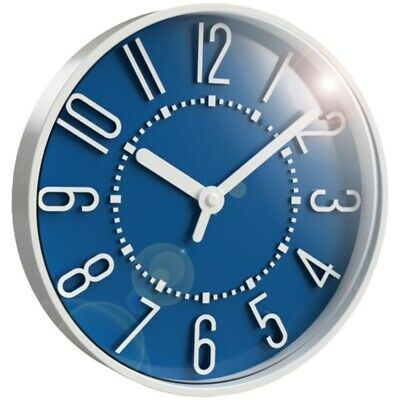 Ebay Ad Link New Westclox 33215sb 10 Inch Storm Blue Wall Clock White Wall Clocks Blue Wall Clocks Wall Clock Glass