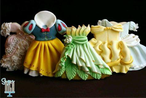 Vestidos Princesas Disney Tortas Con Golosinas Galletas