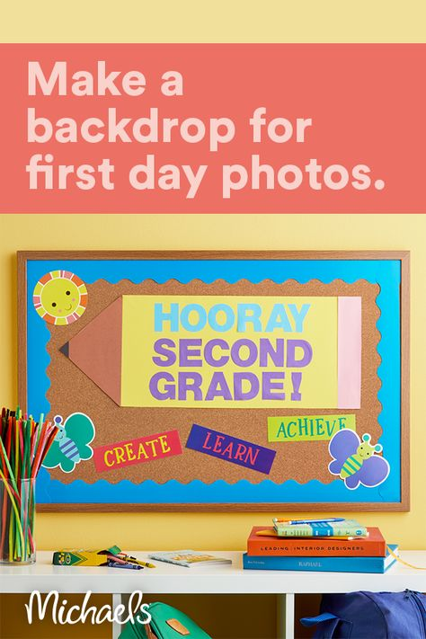 Capture this special moment in time with this photo prop perfect for the first day of school.