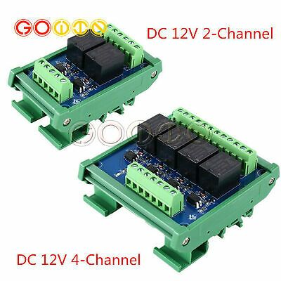 2 4 Channels Photocoupler Isolated Relay Module 12v Plc Signal Amplifier Board Ebay Relay 4 Channel High Low