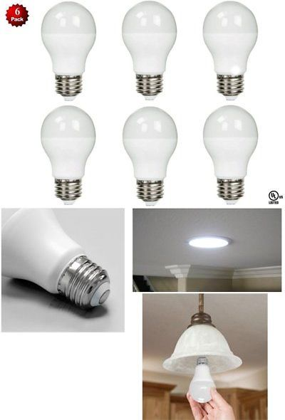 6 Pack Led 100 Watt Equivalent 5000k 100w A19 Daylight White Light Bulb 11w Ul White Light Bulbs Bulb Light Bulb