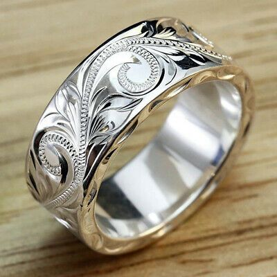 Details about Simple Women,men Rings 925 Silver Rings Women Party Jewelry Gifts Rings Sz 6-10