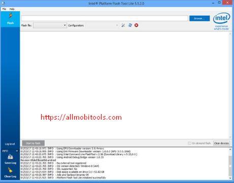 Download Intel Phone Flash Tool v5 5 2 0 Latest Version   sa