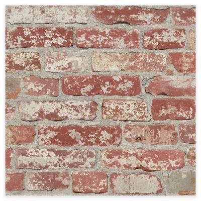 Roommates Stuccoed Brick Peel Stick Wallpaper Bed Bath Beyond Faux Brick Peel And Stick Wallpaper Brick Wallpaper