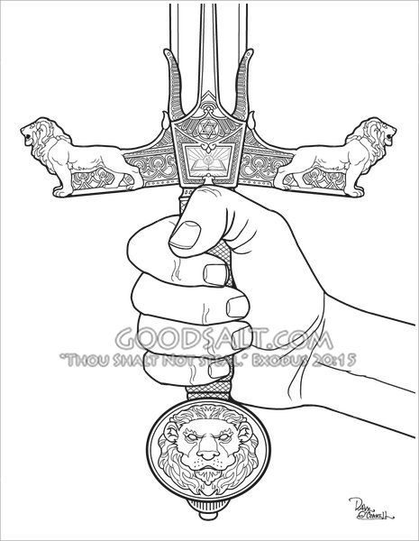 Sword Coloring Armor Of God Lesson Bible Study For Kids Sword Of The Spirit