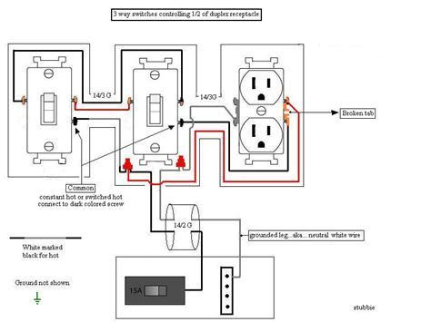 duplex switch wiring diagram variations  best fusebox and