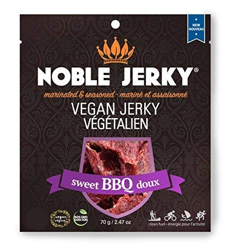 Noble Jerky Vegan Jerky Bbq Flavor Protein Rich Plant Based Veggie Snacks Meatless Vegan And Vegetarian Friendly Sweet Vegan Jerky Vegan Veggie Snacks